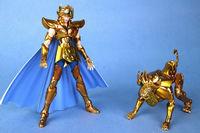 Newest QQ Model Saint Seiya Leo Lion Leone Aioria Aiolia Myth Cloth EX With Holy Garments Action Figure Children's Gift