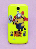 Cartoon Bugler Minion Despicable Me Minions Pattern Hard Back Cover Case Skin For Samsung Galaxy S4 i9500 Free shipping