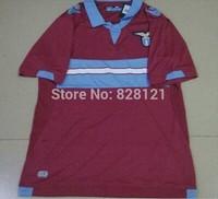 Best Thal Quality New Season Lazio Away Red 14/15 Soccer Football Shirts KEITA BALDE 14# L.BIGLIA 5# Soccer Football Jer