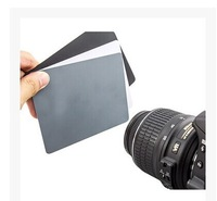 Photo Studio Accessories 3in1 Digital 18% Gray/White/Black Card Set Exposure Balance Strap uk seller