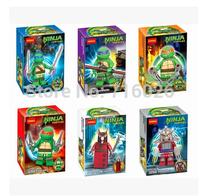 2015 New Decool 3D DIY Teenage Mutant Ninja Turtles Plastic Minifigures For Children Learning&Education Building Block Toy