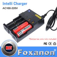 100% Original Nitecore i4 Intellicharge Universal Battery Charger Intelligent charging  PowerIQ design for 18650 14500 AA AAA