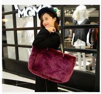 2014 Women handbags 5 colors fur bags high quality female shoulder bags women hand bags