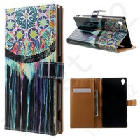 Wallet Folio Protective Shell leather case For Sony Xperia Z3 D6603 D6643 D6653 D6616 Leather case