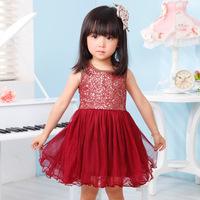 New Girl Sequins Princess Dress Summer Children Clothing Kid Tulle Tutu Dresses Child Holiday Gauze Holiday Dressy B007