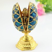 Free Shipping Double Faberge Egg Trinket Boxes Jewelry Boxes