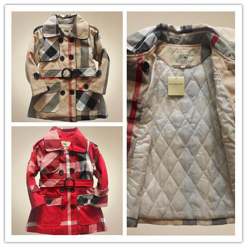 bambini moda 2014 congelati giacca a quadri e lunghi tratti