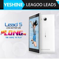 Original LEAGOO Lead5 lead 5  mobile phone 5inch IPS 854x480 MTK6582 Quad Core Android 4.4 1GB RAM 8GB ROM 8MP In Stock