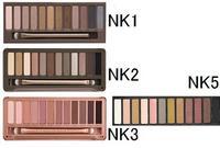 New nake 3 palette nake 5 nake 1 and 2 makeup eyeshadow NK1 NK2 NK3 and NK5 glitter eye shadow brush makeup set