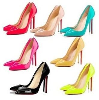 Taille 2014 35-41 de bonbons de couleur talon mince a bleu, féminine's pompes à talons hauts rouges vintage. fond rouge sexy chaussures à talons bas et haut
