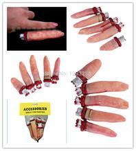 1Set Halloween Vivid Bloody Severed Fake Five Finger Rubber Gory Shock Joke Prop dR8v(China (Mainland))