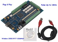 4 Axis USB Interface CNC Motion Controller Card, Mach3 1Mhz Breakout Board for CNC Router