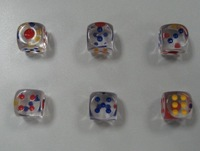 20mm full transparent red blue 20 Large transparent dice boulimia crystal 20 bosons