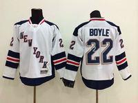 Stitched Free Shipping men's Hockey Jersey New York Rangers #22 Brian Boyle Hockey Jersey Embroidery Logos Jersey