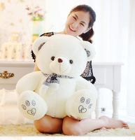 stuffed toy 70cm scarf teddy bear plush toy lovely bear , throw pillow ,birthday gift b5999