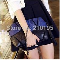 fashion lady shoulder bag chains handbag PU leather mix color  european style  free shipping 2014