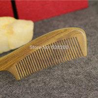Natural wood comb green sandalwood Long-handled comb Health massage hair comb Antistatic