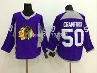 Cheap Free Shipping men's Hockey Jersey Chicago Blackhawks 50 Corey Crawford Hockey Jersey Embroidery Logos Jersey