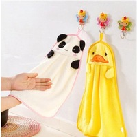 Cartoon Quick-dry Microfiber Fabric Hanging Hand Towel Strong Absorption Kitchen Towels Free Shipping