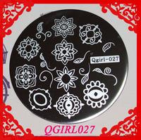 Qgirl Stamping Plates Qgirl027  Free Shipping  Qgirl Nail Art  10pcs/lot