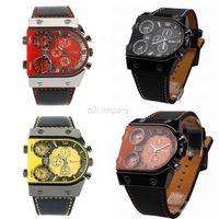 New 6 Colors New Luxury Sport Military Quartz Dial Clock Men Leather Vogue Wrist Watches