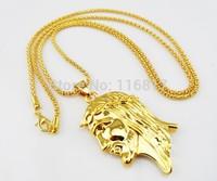 5PCS wholesale Fashion Medusa Hip Hop Gold Plated Men Jewelry Pendant Statement Necklace Chain Necklaces & Pendants for Women