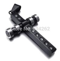 Wholesale + retail  316L Stainless Steel men's cross Pendant Necklace 10021798(074204)