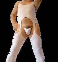 The brasen male full-body one piece vest sexy one piece straitest customize
