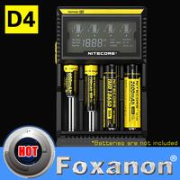 100% Original Nitecore D4 Digital Display Intellicharge Universal Battery Charger Intelligent charging  PowerIQ design for 18650