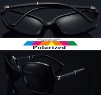2015 Dazzling color Interlocking mark Double color Gradient TAC polarized polaroid polarised golf  ski UV400 women sunglasses