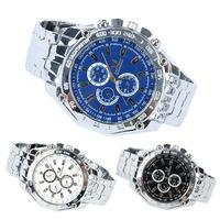 New Stylish Men's Luxury Stainless Steel Band Sport Analog Quartz Wrist Watch New
