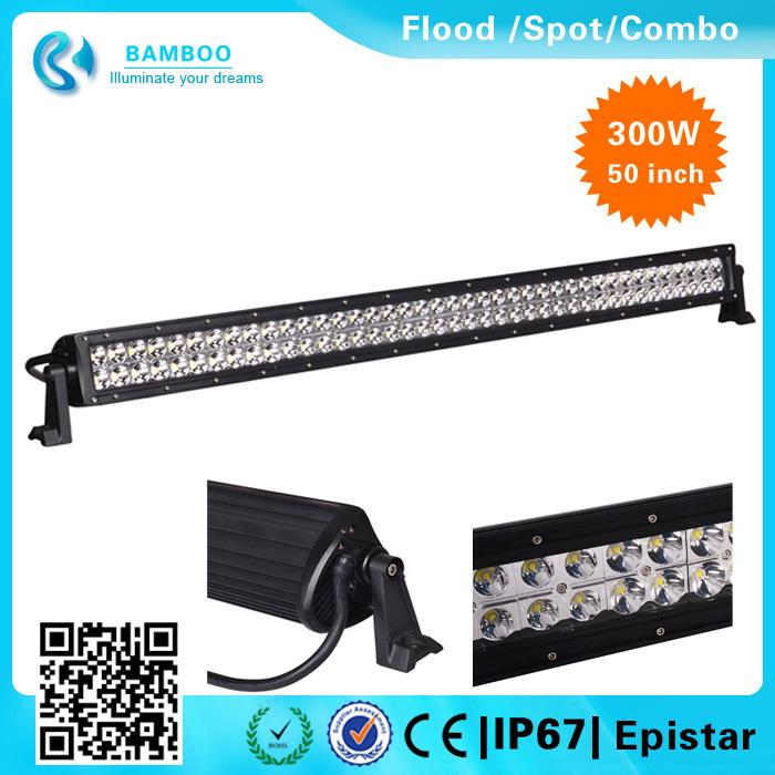 China supplier 50'' 300W Led Light Bar Auto Lighting Bar go kart Off road Flood/Spot/Combo for Truck ATV SUV UTE Sand buggy(China (Mainland))