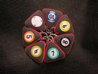 Freepost 6pcs/lot Triangle billiard balls keyring as billiard balls No1~No 15 keychain billiard snooker accessories
