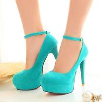 plus size eur 32-43 girls sexy high heels spring fashion ladies wedding shoes woman platform women ankle strap pumps SD140392