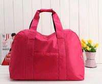 Free shipping Large capacity folding waterproof sports fitness travel luggage bag portable women's one shoulder handbag bags