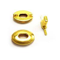 Craft Case Clasp Oval shaped Turnlock Bag Purse Belt Twist Lock Size 30 mm