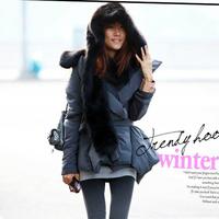 Fashion Women faux fur one piece cartoon cap belt scarf  Fur hat female winter hat and scarf set Skullies   Hoodie Muffler