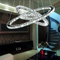 Modern 3 tier LED Round Crystal Pendant Lamp Diamond Ringring led crystal chandelie Dia 60*40*20cm 110V or 220V