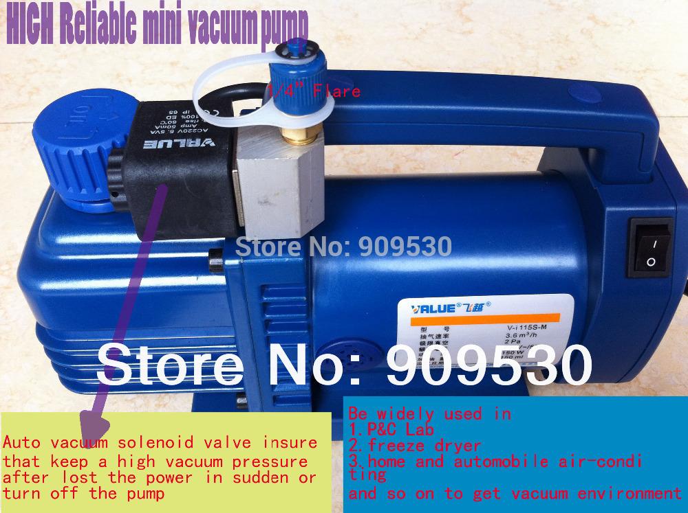New High reliable Hvac rotary-vane vacuum pump V-I115S-M 220V 150W Suitable for R410A R134A R22 R407C R12(China (Mainland))
