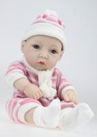 28cm  reborn baby doll simulation rebirth son small mini full silicone doll birthday gift toys for children