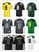 Free Shipping NCAA Oregon Ducks Jerseys #8 Marcus Mariota College Football Jersey,All Stitched,Can Mix Order,Drop Shipping