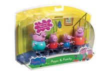Retail! New2014Hot Sale Kids Toys 4 Design Peppa Pig & Family Doll Kids Toys Cartoon Pepe Pig Vinyl Doll Toys Baby JuguetesKT076