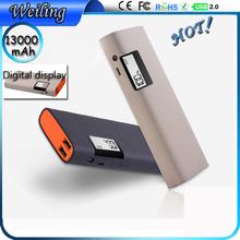 Hd digital display usb travel power bank 13000mah extra power bank for mobile /ipad/camera digital display power bank