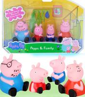 Hot Sale Peppa Pig & Family Vinyl Doll Toys New 2014Free Ship 4pc/Lot Cartoon Kids Toys Pepe Pig Plastic Toys Baby JuguetesKT079