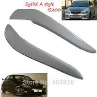 Fiberglass Headlight Eyebrows Eyelids Covers  for Lexus IS200, IS300 eyelid