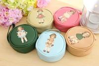 10pcs/lot paper doll mate coin bag pu women cosmetics pouch change purse free shipping