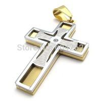 Wholesale + retail , 316L Stainless Steel men's cross Pendant Necklace 10021934(074060)