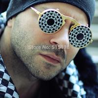 Brand Designer Sunglasses Mens Steampunk Round Vantage  Fashion Women Glasses Metal frame Sunglass Oculos de Sol Feminino S260