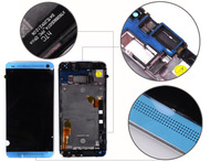 For HTC One M7 810e LCD Display Digitizer Touch Screen with frame bezel Assembly 100% original MOQ 10PCS free shipping DHL