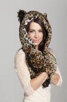 Winter Faux Fur Hood Animal Hoods Hat Cap Plush Hats Warm Caps Beanies Rainbow Skunk Panda Wolf Husky Hat With Scarf Paws